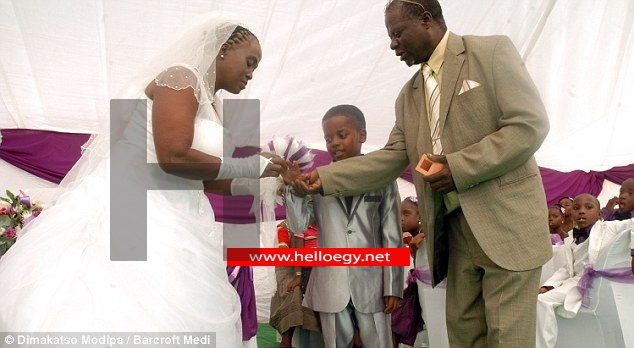 Child bridegroom: Eight-year-old boy marries 61-year-old woman after 'dead ancestors told him to tie the knot'