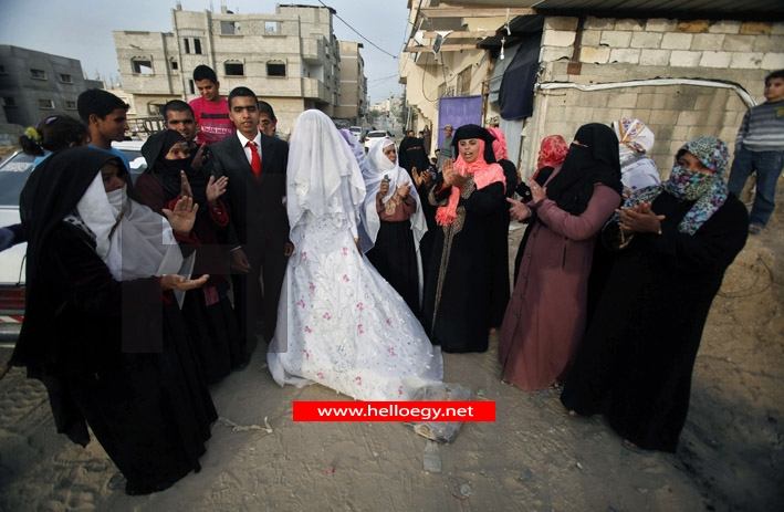 The tunnel of love: Egyptian bride smuggled into Gaza via undergound passageway to marry her Palestinian groom