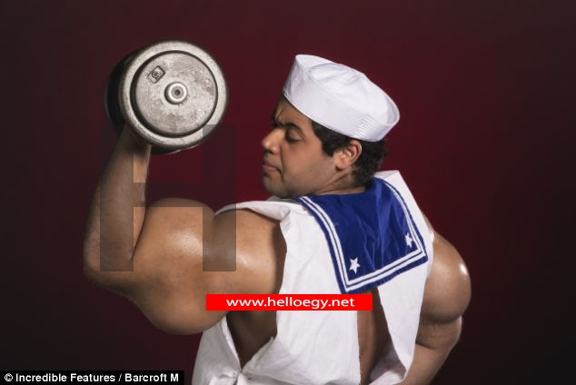 The real-life 'Popeye' who has the world's biggest biceps... but is allergic to spinach