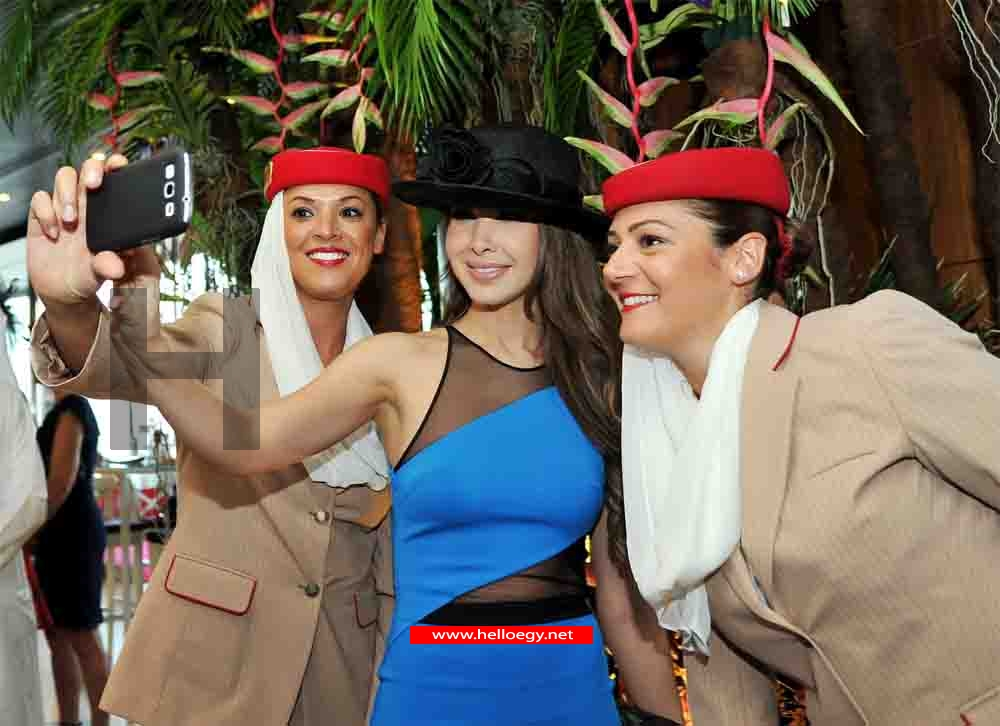 Selfies with Nancy Ajram in Dabai World Cup for Horses