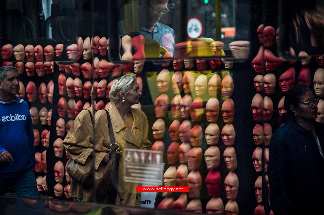 Masks, one for each of the 594 congressmen and one more for Brazilian President Michel Temer, put by the Brazilian NGO Rio de Paz as a protest against the political corruption scandals, are seen at Sa